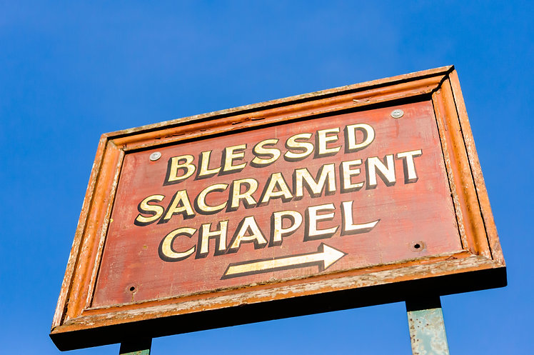 Sign for the Blessed Sacrament Chapel.jp