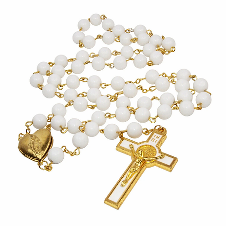 Catholic_White_Gold_Plated_Rosary_Beads_