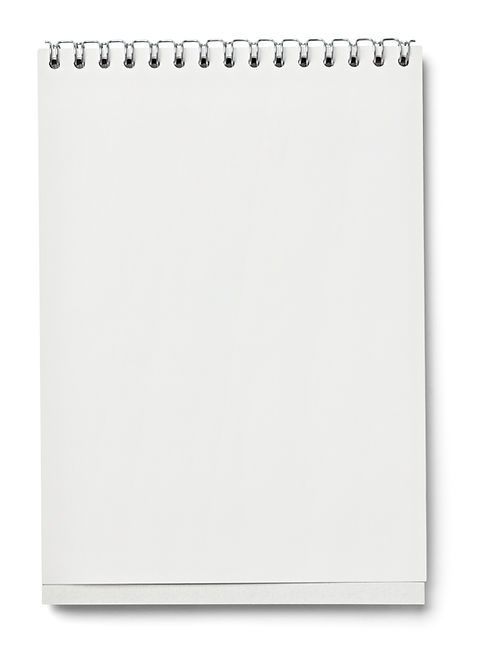 blank white paper on white background w
