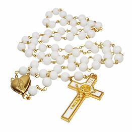 Catholic_White_Gold_Plated_Rosary_Beads_