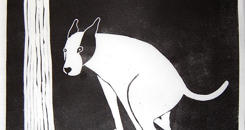 Dog shitting,ed12.17x17,43x43cm.2002.jpg