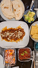Ancho chili chicken tacos