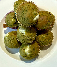 Kale and goat cheese muffins