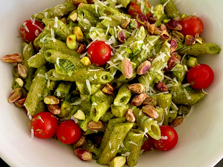 Pasta with Sicilian pistachio pesto
