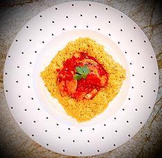 Cod Chraymeh or North African fish stew