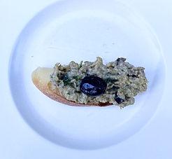 Eggplant crostini or Crostini di melanzana