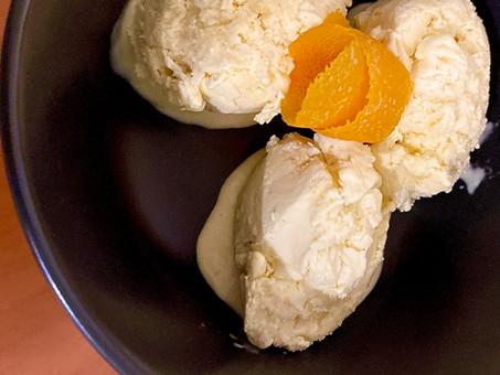 Orange and fennel seed ice cream