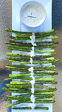 Grilled asparagus with Gribiche