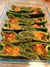 Indian-style stuffed peppers