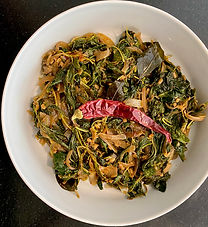 Andhra amaranth greens with garlic and chilli