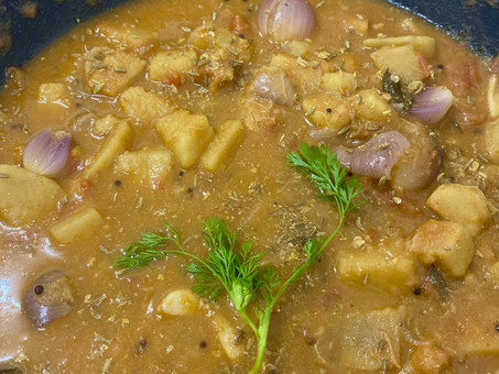Chettinad yam curry