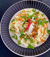 Vietnamese shredded cabbage salad