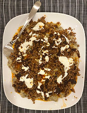 Ali Nazik: Ground mutton (or lamb) with smoked eggplant