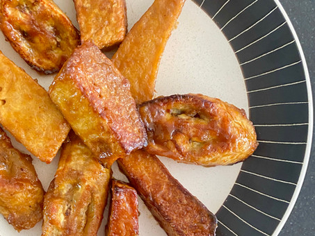 Candied yams and plantains