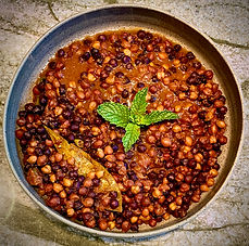 Curried chickpeas or Chole - Indian curry series 3