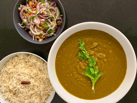 Dhansak ni dar or Parsi potage of lentils and vegetables