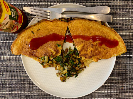 """The great """"Indian"""" stuffed omelette"""