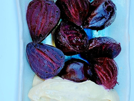 Roasted beets with Avocado-Habanero crema
