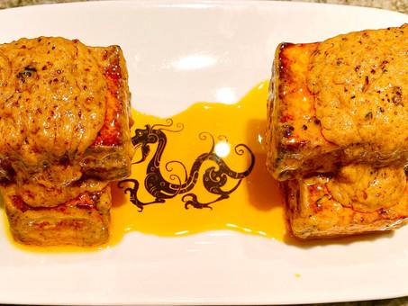 Garlic-flavored paneer (Lahsuni paneer tikka)