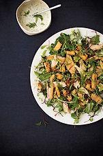 Smoked Trout, Rutabaga, and Microgreen Salad