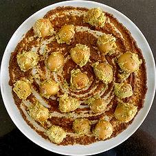 Potatoes with poppy seeds (Posto) on Sri Lankan curry leaf chutney