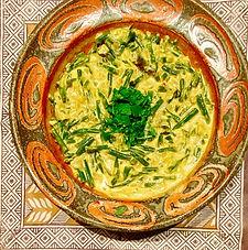 Sri Lankan snake bean curry - with coconut-pandanus rice