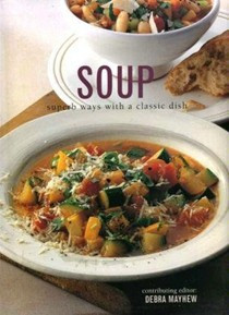 Roasted red pepper soup.