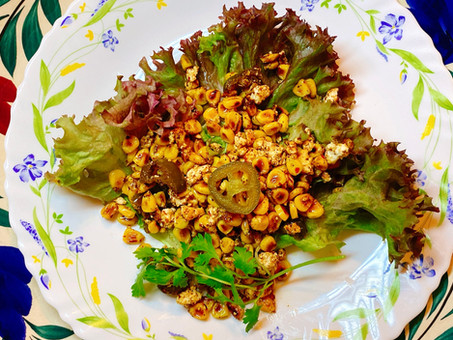 Mexican-influenced roasted corn salad