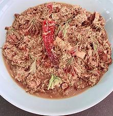 Hyderabadi lamb with tender tamarind leaves (Chingur gosht)