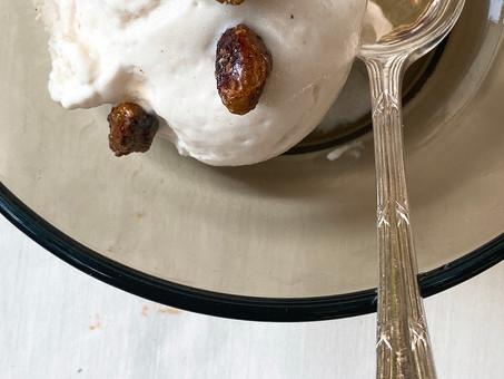 Custard apple (Sitaphal) or cherimoya ice cream
