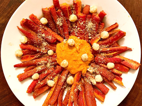 Roasted Carrots With Harissa Aïoli and Dukkah — Another beautiful Christmas dinner recipe
