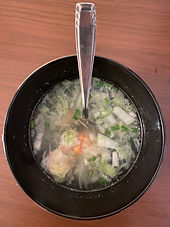 Napa cabbage and shrimp soup