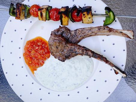 Lamb, lemon and chilli kebabs