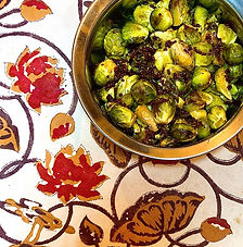 Crispy Brussels Sprouts with Pickled Mustard Seeds — For your Christmas table