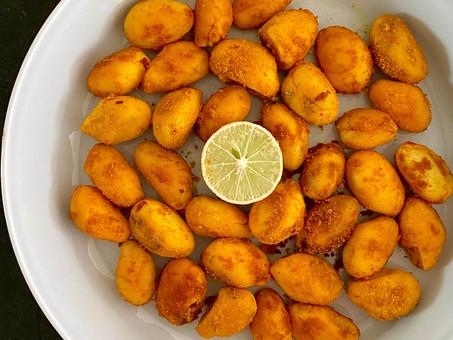 Sri Lankan jackfruit seed stir-fry