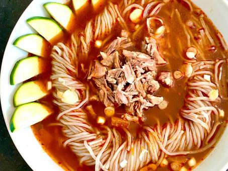 Korean spicy shredded meat soup (Yukgaejang)