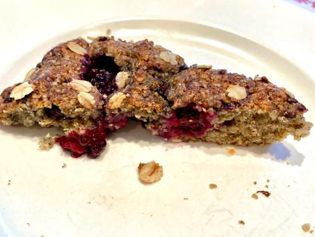 Blackberry buttermilk whole grain scones