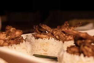 Vietnamese caramelized lemongrass prawns
