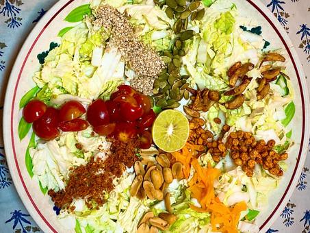 Burmese punchy-crunchy ginger salad (Gyin Thoke)