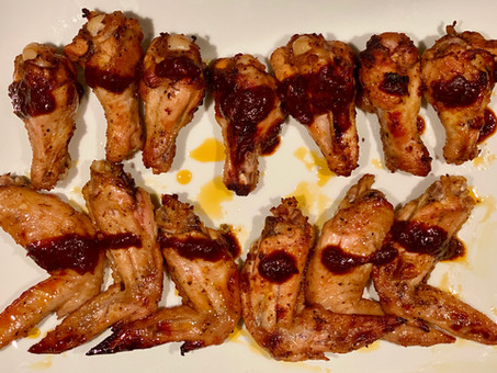 Red charmoula chicken wings