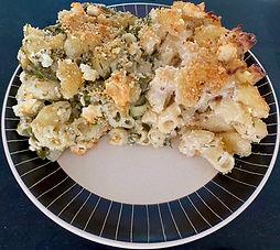 Wild greens macaroni and cheese