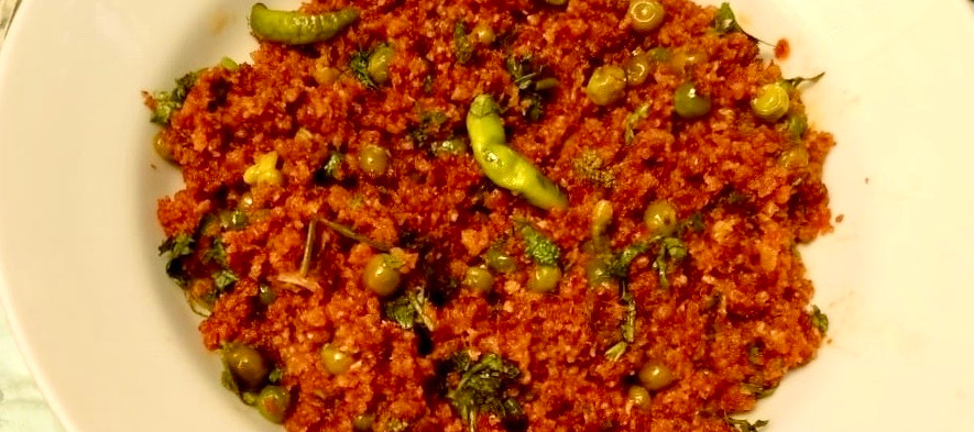 Indian ground beef curry or Kheema