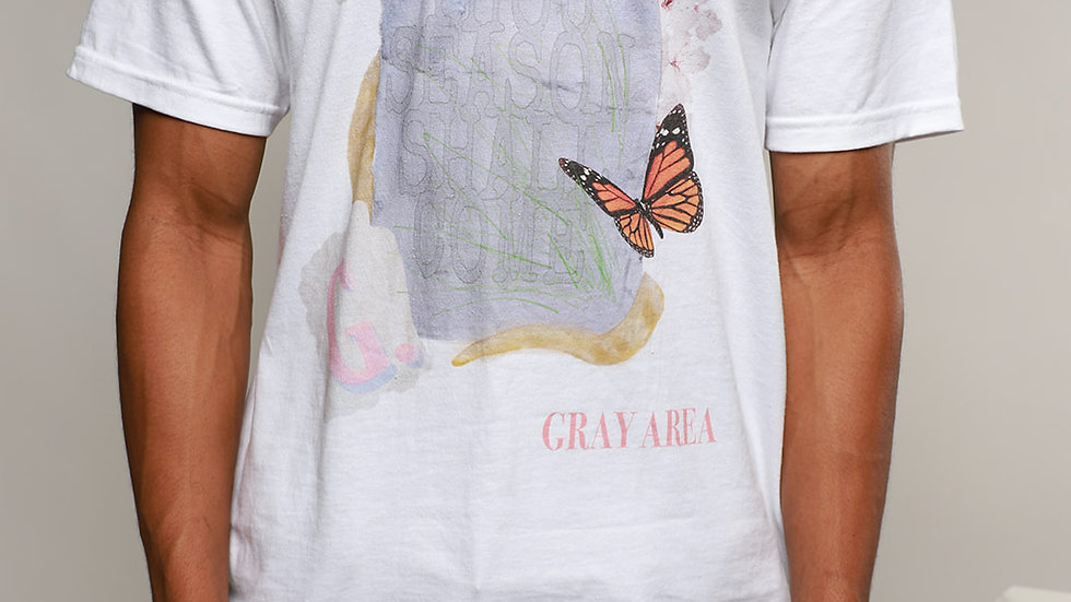 Butterfly Statement Tee-- WHITE