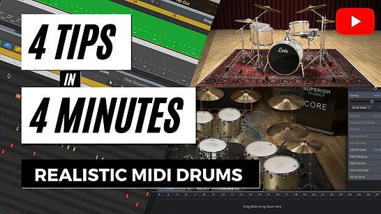 Programming MIDI Drums - 4 Tips in 4 Min