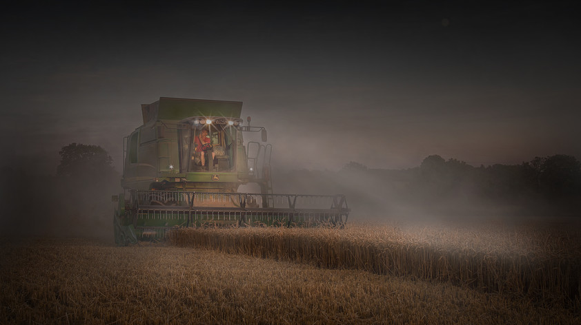 Working Late bringing The Harvest Home