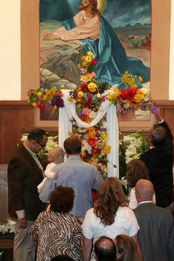 Easter Service Living Cross