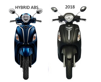 เปรียบเทียบ YAMAHA แกรนด์ฟีลาโน่ HYBRID รุ่นใหม่ กับรุ่นปี [2018] [2017] มีอะไรใหม่?