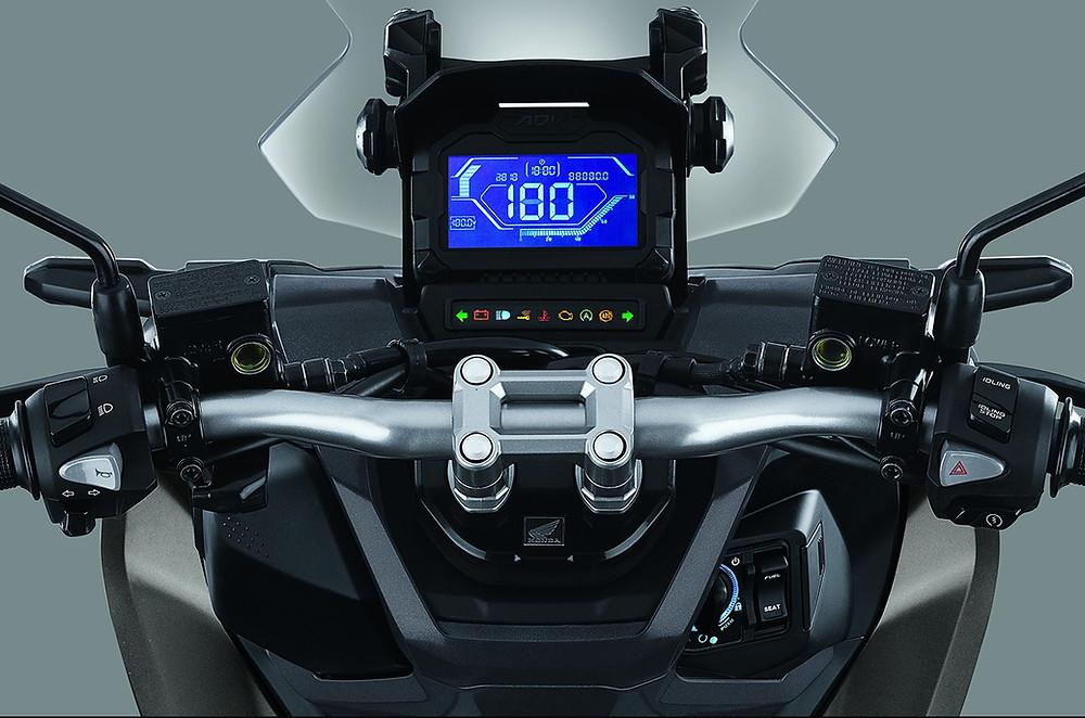 Honda ADV กระจกปรับขึ้นลงได้2ระดับ เรือนไมล์ LCD digital