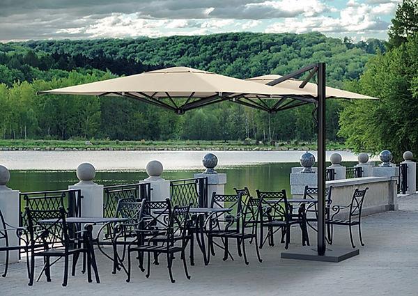yandan gövdeli bahçe şemsiyesi, yandan gövdeli teras şemsiyesi