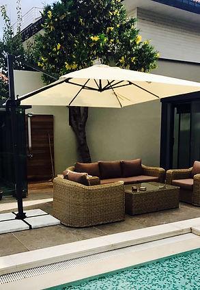 lüks bahçe şemsiyesi, lüks bahçe şemsiyeleri